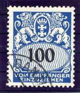 DANZIG 1938 Postage Due 100 Pf. With Swastika Watermark Used.  Michel Porto 47 - Danzig