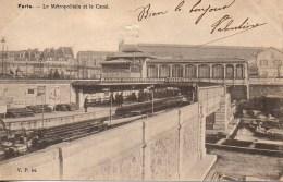 75 PARIS   Le Métropolitain Et Le Canal - Métro Parisien, Gares