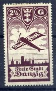 DANZIG 1924 Airmail 1 G. MH / *.  Michel 206 - Danzig