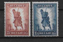 BELGIQUE - 1932 - COB N° 351 **/MNH + 352 */MH - COTE = 300 EURO - Unused Stamps