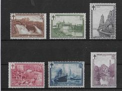 BELGIQUE - 1929 - COB N° 293/298 **/MNH - COTE = 120 EURO - Belgique