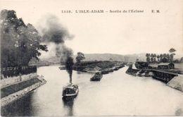 L' ISLE ADAM - Sortie De L' Ecluse - Péniche   (100845) - L'Isle Adam