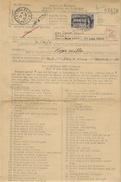 1945-  RARE  Message U S  Type E F M Modèle N°698  COMPLET Taxe 25 F Chenonceaux - Marcophilie (Lettres)