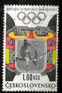 TCHECOSLOVAQUIE    N° 1635 Oblitere   Jo 1968  Football Soccer Fussball - Soccer