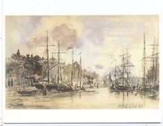 Carte Johan B. Jongkind  Haringvliet Te Rotterdam  Art Unlimided Amsterdam - Paintings