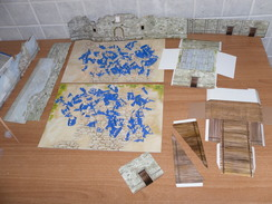 FORTINO SOLDATINI ESERCITO FRANCESE AMERICANI CIVIL WAR IN CARTONE SCALA 1/72. - Figurines