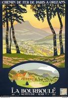 Chemin De Fer P.O. La Bourboule 1936 - Postcard - Poster Reproduction - Publicité