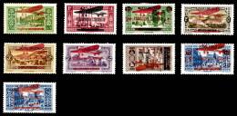 Poste Aérienne, N°29/37, Série Complète, Les 9 Valeurs TB  Cote: 450 Euros  Qualité: * - Great Lebanon (1924-1945)