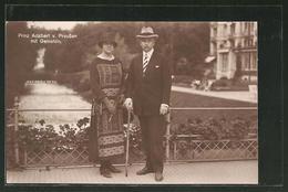 AK Prinz Adalbert Von Preussen Und Gemahlin, 1925 - Royal Families