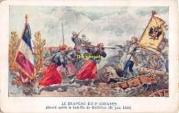 CPA LE DRAPEAU DU 2  ZOUAVES BATAILLE DE SOLFERINO 1859 - Guerres - Autres