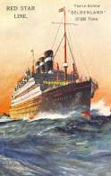 CPA  PAQUEBOT BOAT SHIP RED STAR LINE BELGENLAND - Steamers