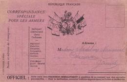 CORRESPONDANCE  SPECIALE Pour Les ARMEES,,,VOYAGE  1917 - Marcofilia (sobres)
