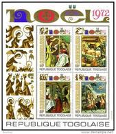 Togo, 1972, Christmas, Paintings, Religion, MNH, Michel Block 69 - Togo (1960-...)