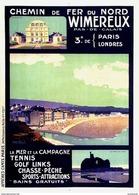 Chemin De Fer Du Nord Wimereux Tennis-golf-sports 1925 - Postcard - Poster Reproduction - Publicité