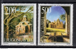 Yugoslavia,Monasteries In Serbia 1999.,MNH - 1992-2003 République Fédérale De Yougoslavie