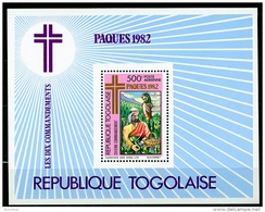 Togo, 1982, Easter, Painting, Ten Commitments, MNH, Michel Block 188 - Togo (1960-...)