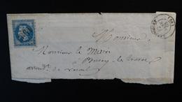France - Lettre Enveloppe - GC 1993 Sur 20c Napoléon III Lauré - Année 1868 - 1849-1876: Classic Period