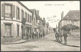 "89  MICHERY  ( YONNE )...ANIMEE...CORRESPONDANCE D' UN "" POILU""   LA GRANDE RUE...CAFE GOUJON...C2390 - France"