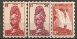 CAMEROUN - Yv. N°167, 168,170  ** MNH  15c,20c,30c Cote 1,8 Euro TBE 2 Scans - Cameroun (1915-1959)