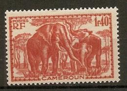 CAMEROUN - Yv. N° 181  *  1f40  Elephants Cote 1,5 Euro  BE 2 Scans - Cameroun (1915-1959)