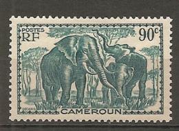 CAMEROUN - Yv. N° 177  * 90c  Elephants Cote  1,1 Euro  BE  2 Scans - Cameroun (1915-1959)