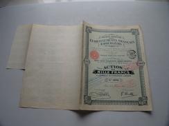 Ets. Francais R. BOURGEOIS ( Lyon ) Action De Mille Francs N° 0016 ( Voir Photo Pour Detail )! - Actions & Titres