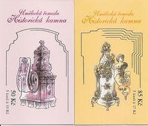 CZECH REPUBLIC, 2008, Booklet 131/132, Historic Stoves II.  Mi 575/76 - Czech Republic