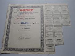 SAPHOT ( Paris ) Action De 1000 Francs Au Porteur N° 00,387 - 1929 ( Voir Photo Pour Detail )! - Shareholdings
