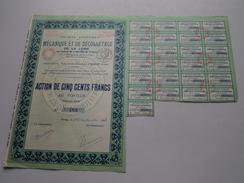 Mécanique Et De Décolletage De La Loire / Action De 500 Francs Au Porteur N° 769 - 1931 ( Voir Photo Pour Detail )! - Shareholdings