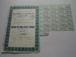 Mécanique Et De Décolletage De La Loire / Action De 500 Francs Au Porteur N° 973 - 1931 ( Voir Photo Pour Detail )! - Shareholdings