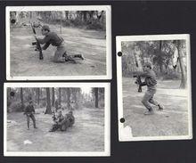 Soldado Português Com METRALHADORA G3. Lote De 3 Fotografias 12.6cm X 9cm Guerra Colonial - PORTUGAL - Guerre, Militaire