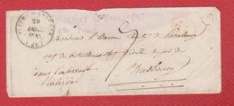 Enveloppe  / De Fleury Sur Andelle / Pour Strasbourg  / 29 / 12 / 1842 - Storia Postale