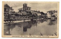 CERVIGNANO DEL FRIULI - FIUME AUSSA E CHIESA PARROCCHIALE - Udine