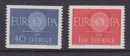 Europa Cept 1960 Sweden 2v  ** Mnh (37039A) - 1960