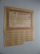 LE FONCIER ( Paris ) Part De Cent Francs Nominative N° 1344 ( Voir Photo Pour Detail )! - Actions & Titres