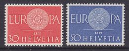 Europa Cept 1960 Switzerland 2v ** Mnh (37039C) - 1960