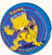 POG : POKEMON, Attrapez Les Tous ! #63 Abra, Element Psy, Tazo N° 26 (1995-1998) - Other