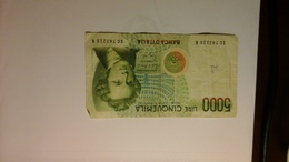 Banconota Da £. 5000 Bellini Serie SC 743225K - [ 2] 1946-… : Républic