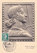Carte-Maximum FRANCE N° Yvert 1011A (MARIANNE De MULLER) Obl Sp Ill Journée Du Timbre 59 (Ed GP) - 1950-59