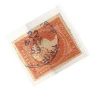 Año 1856 Edifil 48 4c Isabel II Matasellos Azul Mora De E. Tarragona - 1850-68 Königreich: Isabella II.