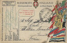 FRANCHIGIA POSTA MILITARE 116 1919 SAN GIOVANNI MEDUA ALBANIA X CHATEAU BEAULARD - Military Mail (PM)