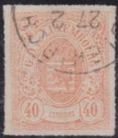 Luxembourg         .     Yvert  .   23      .    O      .          Gebruikt  .     /   .   Cancelled - 1859-1880 Wapenschild