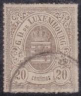 Luxembourg         .     Yvert  .    19         .       O      .         Gebruikt  .     /   .   Cancelled - 1859-1880 Wapenschild