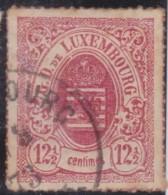 Luxembourg         .     Yvert  .    18        .       O      .         Gebruikt  .     /   .   Cancelled - 1859-1880 Wapenschild