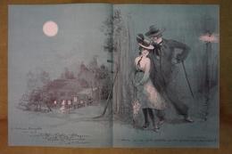 Rare Grand Menu - 297e Diner - Le Cornet - 23 Juin 1932 - Belle Illustration De Poulbot - Dédicace De Roland Dorgelès - Menu
