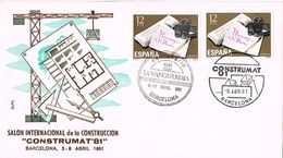 26052. Carta  Exposicion BARCELONA 1981. CONSTRUMAT 81. Centenario La Vanguardia - 1931-Oggi: 2. Rep. - ... Juan Carlos I