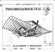BUBBLE GUM / CHEWING GUM: GORILA - AERONAUTICAL SERIES / (1) PIONEERS - 041 ALEXANDRE F.MOZHAISKI - Vieux Papiers