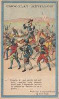 """Image 6.5  X10.6 Cm """"Chocolat Révillon"""" Henri IV à Ivry Sur Eure - Publicité Verso Chocolat - MYDIA, Sous Trois Formes - Publicités"""