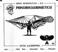BUBBLE GUM / CHEWING GUM: GORILA - AERONAUTICAL SERIES / (1) PIONEERS - 043 OTTO LILIENTHAL - Vieux Papiers