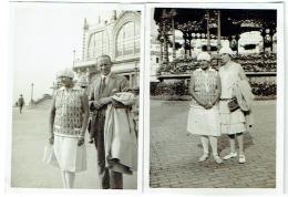 Foto/Photo. Femme/Pin Up à Ostende En Juillet 1928. Lot De 2 Photos . Mode. - Lugares